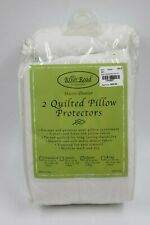 River Road Micro-Denier White Quited Pillow Protectors Covers (2) NEW