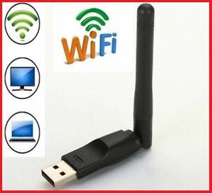 MINI ADATTATORE USB PC WIFI 300 MBPS ANTENNA CHIAVETTA WIRELESS WI FI RALINK