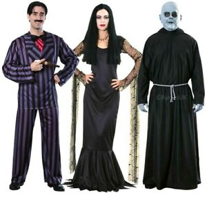 Official Addams Family MORTICIA or GOMEZ or UNCLE FESTER Fancy Dress Costume