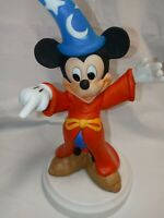 "Vintage Disney Fantasia Sorcerer Mickey Mouse 8"" Ceramic Figurine Statue Point"