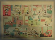 Donald Duck Sunday Page by Walt Disney from 10/4/1942 Half Page Size