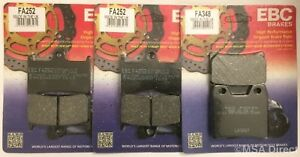 EBC Organic FRONT and REAR Disc Brake Pads Fits YAMAHA XJR1300 (2002 to 2016)