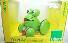 Vilac Youpla Frog Wooden Pull Toy France Green Baby Gift