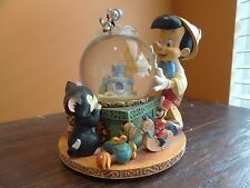 Disney Store Pinocchio Jiminy Cricket FishBowl Toy Land Music Water Snow Globe