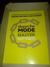 "DEPECHE MODE ""MASTER AND SERVANT"" LTD 12""  17 X 11 PROMO POSTER"