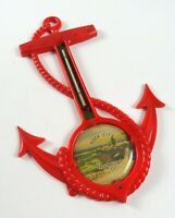 Vintage Souvenir Rock City Lookout Mountain Red Boat Anchor Thermometer