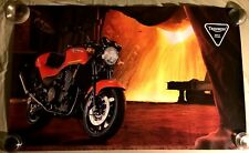 """VERY RARE VINTAGE TRIUMPH SPEED TRIPLE  MOTORCYCLE POSTER 39""""X24"""""""