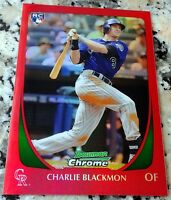 CHARLIE BLACKMON 2011 Bowman Chrome RED REFRACTOR SP Rookie Card RC 4/5 RARE HOT