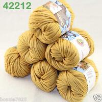 Sale Lot 6ballsx50g Soft Worsted Cotton Chunky Bulky Hand Knitting Shawl Yarn 12