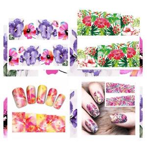 Nail Art Sticker - Fleurs Hibiscus Leo Autocollant Ongles Tatouage Étiquette #N3