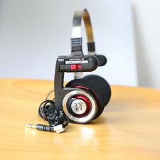 KOSS PORTA PRO ON EAR HEADPHONES (RED/BLACK) RUBBER THREAD STRAIGHT PLUG