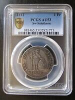 "1812 Swiss Cantons SW ""Solothurn"" Silver 1 Frank PCGS AU53"