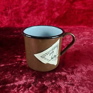 1 PCS Original USSR Metal Mug Soviet Russian Army Soldier vintage Enameled Cup