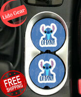 Stitch Car Coasters Disney Inspired Car Coasters Ohana Car Coasters Set