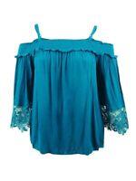 INC International Concepts Women's Plus Size Cold-Shoulder Top