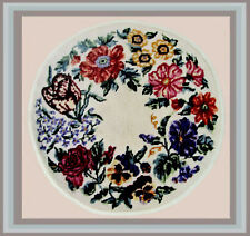 *Vintage Needlepoint* 1988 Polite To Point * Floral Wreath * Nat'l Trust Decatur