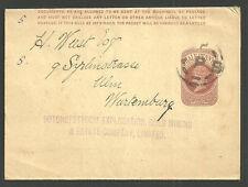 Queen Victoria 1/2D Brown Wrapper Potchefstroom Gold Mining Company Npb