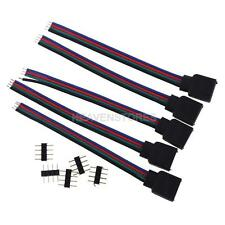 5pcs RGB 4-Pin Extension Wire Connector Cable For 3528 5050 RGB LED Strip hv2n