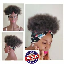 2in1 Wrapwig | HeadBand Wig Dark | Kinky Wig Afro Wig Wig For Black Women 8inch