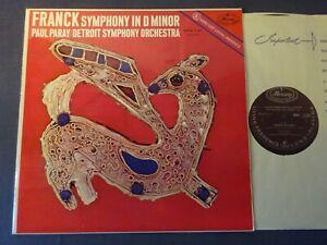FRANCK - SYMPHONY IN D MINOR LP, Detroit S/O, Paul Paray, MERCURY MMA 11165