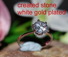 1ct look 6mm sigle brilliant DIAM0ND ring size J 5