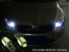 Skoda Roomster Praktik 2x T10 9SMD LED WHITE BULBS SIDELIGHTS CANBUS FREE ERROR