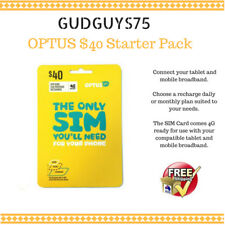 OPTUS  $40.00 PRE PAID STARTED PACK  SIM CARD - FREE POSTAGE +25GB data