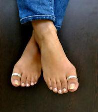 Toe Charm Sterling Silver Rings Toe Ring Big Toe Ring D Shaped Toe ring