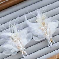 Feather Flower Hairpin Bride Wedding Hair Accessories Flower Bridal Headdress-