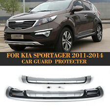 Front Rear Bumpers Protector Guards Fit for Kia Sportage Silver 2011-2014 2PCS