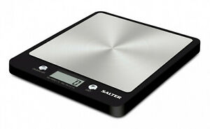 Salter Evo Black Digital Electronic Kitchen Scale 1241A BKDR
