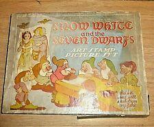 Vintage Snow White & Seven Dwarfs Art Stamp Set see photos
