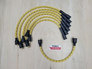Chevy 216 235 8mm Cloth Covered Spark Plug Wire Set Vintage Wires Inline 6