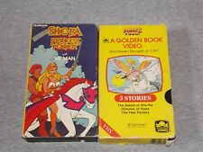 She-ra Princess of Power He-man and Princess of Power Golden Books 3 stories VHS