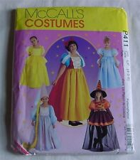 Sewing Pattern McCall's P 411 Costumes Princess Gowns Storybook 4-5-6  Uncut NEW