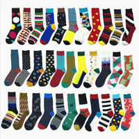 Unisex Happy Socks Men Cotton England Style Art Abstraction Funny Pattern Socks