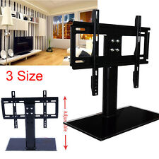 "UK Adjustable 26""-71"" Tabletop TV Stand Bracket Pedestal LCD LED VESA UNIVERSAL"