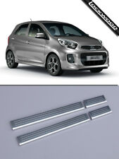 Kia Picanto 1st & 2nd Gen (2005-2016/7) Stainless Sill Protectors / Kick Plates