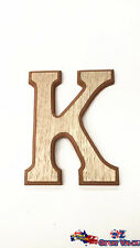 "Large Wooden Alphabet Letter ""K"" Brown Color Uppercase Home Decor Art Craft"