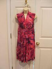 NWT studio 1 petite  pink splash washable dress size petite 12p