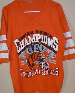 vintage 1990 Cincinnati Bengals  NFL football jersey t shirt size X-Large