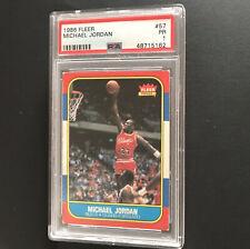 Michael Jordan rookie card FLEER 1986 Newly Graded PSA 1 Authentic Centered Nice