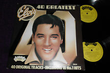 "ELVIS PRESLEY "" 40 Greatest""  UK 2LP   RCA ARCADE  ADEP12"