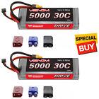 Venom DRIVE LiPo Battery 2S 7.4V 5000mAh 30C HC ROAR w/ Universal 2.0 Plug (2)