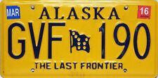 Alaska License Plate, Original Kennzeichen USA  GVF 190 ORIGINALBILD