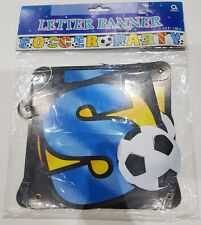 Letter banner Soccer Party banner bunting blue football party