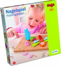 Hammerspiel Nagelspiel HABA Frühlingsfalter 2377 mit 27 Holzteile