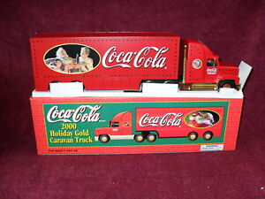 """SUN OIL 2000 Issue """"COKE"""" """"EXCLUSIVE"""" HOLIDAY """"GOLD"""" CARAVAN TRUCK"""