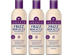 3 X Aussie Frizz Miracle Shampoo For Flyaway Hair 300ml
