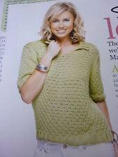 Knitting Pattern- Pretty  Short SleeveTop In Rowan Fine Milk Cotton 4ply-32-46in